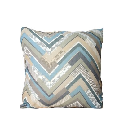 Chevron Throw Pillow Color: Blue/Gray/Beige