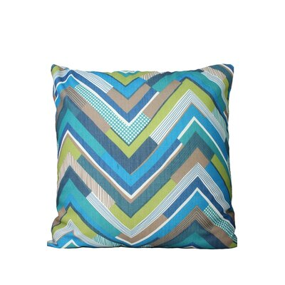 Chevron Throw Pillow Color: Blue/Green/Brown