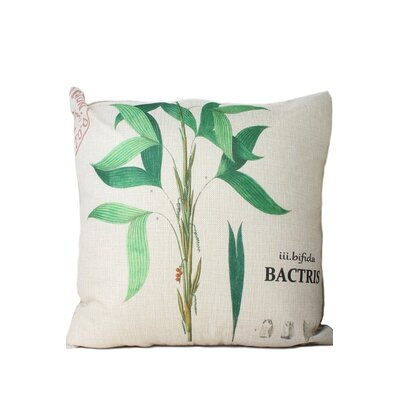 Vaughan Leaf Print Throw Pillow