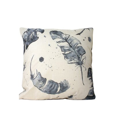 Dougan Feather Print Throw Pillow