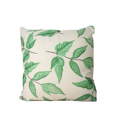Edison Leaf Print Throw Pillow