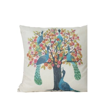 Edlingham Birds Print Throw Pillow