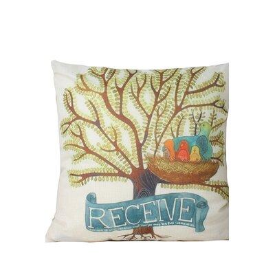 Edlingham Birds Print Throw Pillow