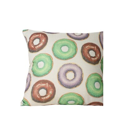 Brindle Donut Print Throw Pillow