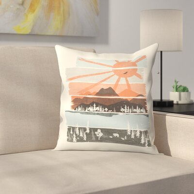 Morning By Bear River Throw Pillow Size: 14