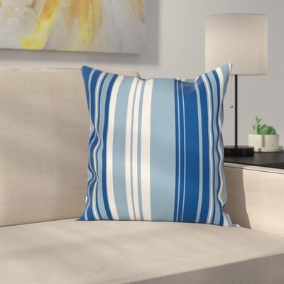 Stripe Retro Shades Square Cushion Pillow Cover Size: 18 x 18