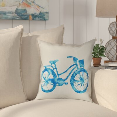 Golden Beach Life Cycle Outdoor Throw Pillow Size: 18 H x 18 W, Color: Turquoise