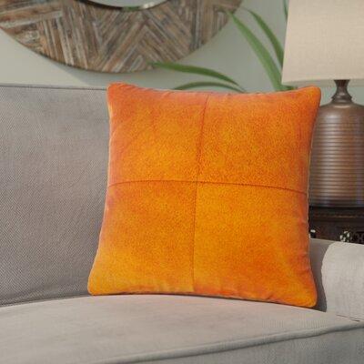Graham Plain Throw Pillow Color: Chocolate/White