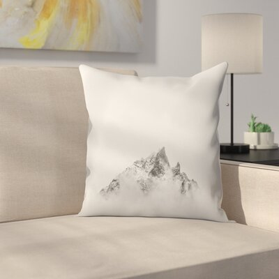 Luke Gram Grand Tetons Wyoming V Throw Pillow Size: 16 x 16