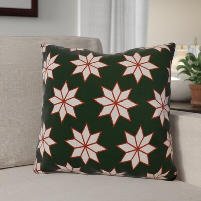 Christmas Decorative Holiday Indoor Geometric Print Throw Pillow Size: 26 H x 26 W, Color: Dark Green