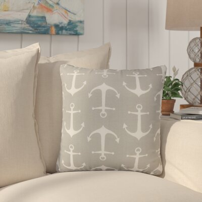 Curran Coastal Throw Pillow Color: Gray