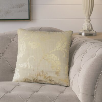 Bertrand Floral Throw Pillow Color: Gold