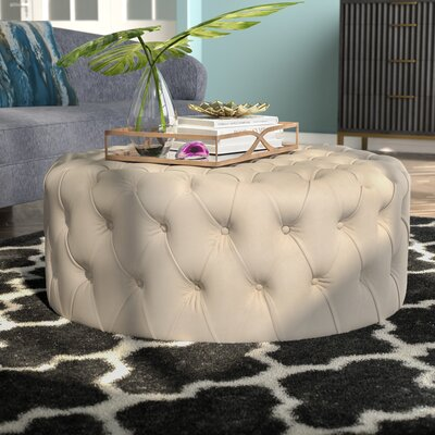 Belmont Cocktail Ottoman Upholstery: Taupe