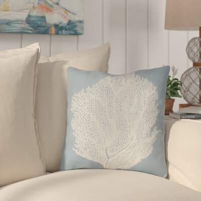 Brookline Coastal II Indoor/Outdoor Throw Pillow Size: 18 H x 18 W x 4 D, Color: Blue