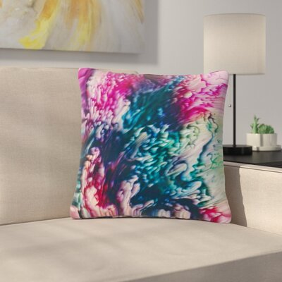 Malia Shields Splash Abstract Ink Outdoor Throw Pillow Size: 16 H x 16 W x 5 D