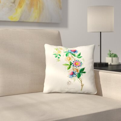 Flored Amerique Lamarie Gougeat Throw Pillow Size: 20 x 20