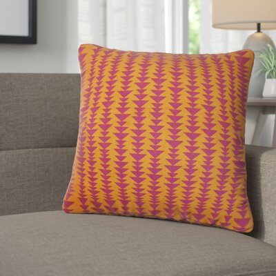 Lorelai Geometric Cotton Throw Pillow Color: Mango