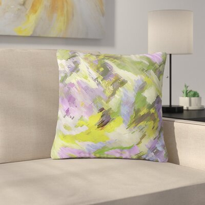 Alison Coxon Giverny Abstract Outdoor Throw Pillow Color: Lilac, Size: 18 H x 18 W x 5 D