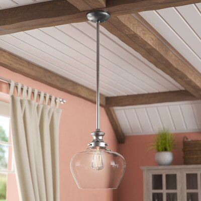 Witten 1-Light Mini Pendant Color: Brushed Nickel