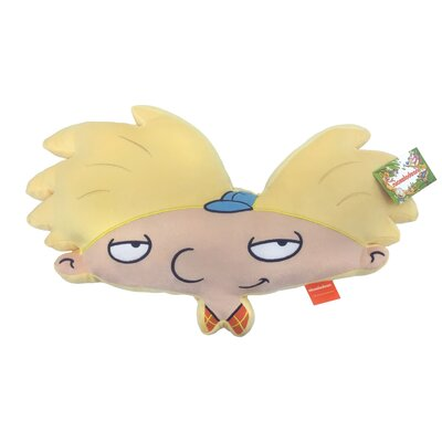 Nick 90s Nickelodeon Splat Hey Arnold Plush Face Throw Pillow