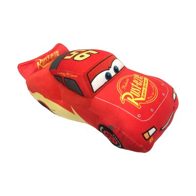 Disney Pixar Cars 3 Movie Lightning Mcqueen Plush Throw Pillow