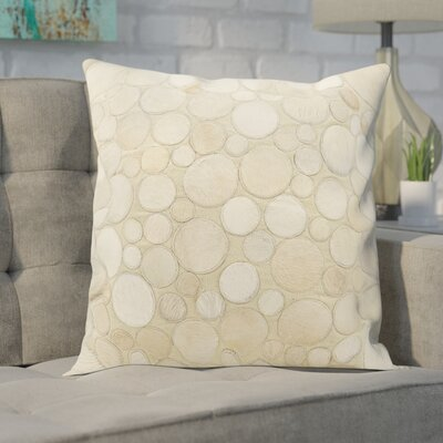 Leather Throw Pillow Color: Beige