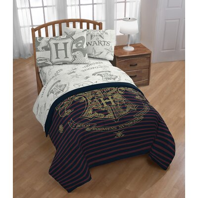 Harry Potter Spellbound 3 Piece Microfiber Sheet Set Size: Twin
