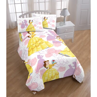 Disney Beauty & The Beast True Beauty 4 Piece Microfiber Sheet Set