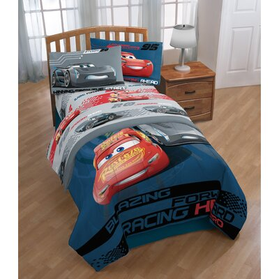 Disney/Pixar Cars 3 Movie Editorial 4 Piece Microfiber Sheet Set Size: Twin