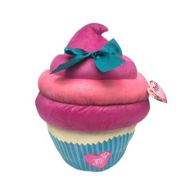 Nickelodeon JoJo Siwa Large Plush Sparkle Cupcake Throw Pillow with Bow