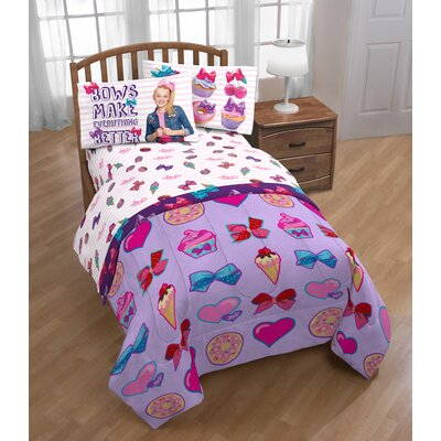 Nickelodeon JoJo Siwa Sweet Life 3 Piece Microfiber Sheet Set