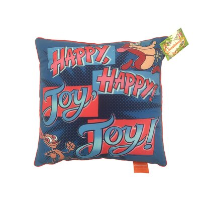 Nick 90s Nickelodeon Splat Happy Joy Burst Decorative Toss Throw Pillow