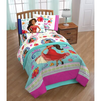 Disney Elena of Avalor Dancing Script 3 Piece Microfiber Sheet Set