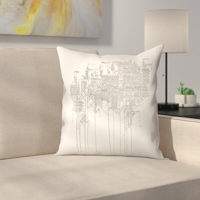 Zenobia Throw Pillow Size: 18 x 18
