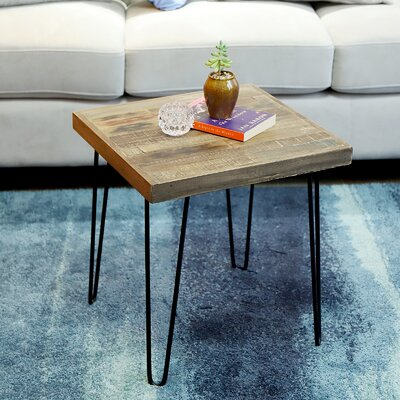 Cybulski Pinewood Square End Table
