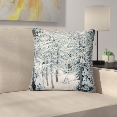 Juan Paolo Winter Trials Snow Outdoor Throw Pillow Size: 16 H x 16 W x 5 D