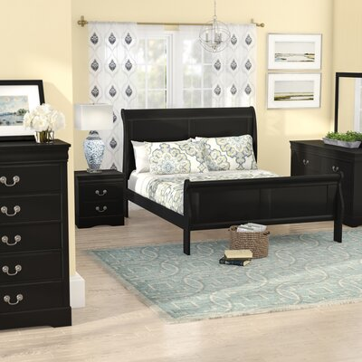 Larrabee Queen Sleigh 5 Piece Bedroom Set