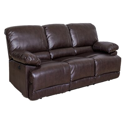 Coyer Reclining Sofa Upholstery: Chocolate Brown