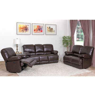 Coyer 3 Piece Living Room Set Upholstery: Chocolate Brown