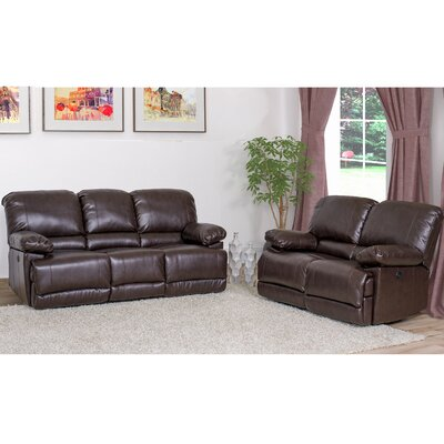 Coyer 2 Piece Living Room Set Upholstery: Chocolate Brown