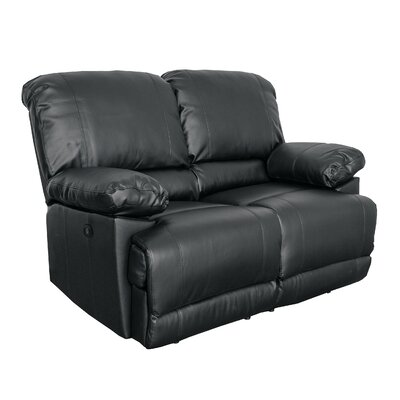 Coyer Reclining Loveseat Upholstery: Black