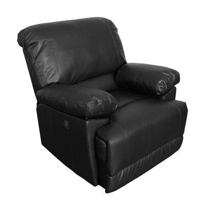 Coyer Power No Motion Recliner Upholstery: Black
