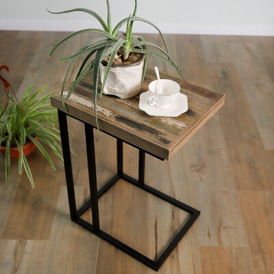Czapla Pinewood C Shape End Table