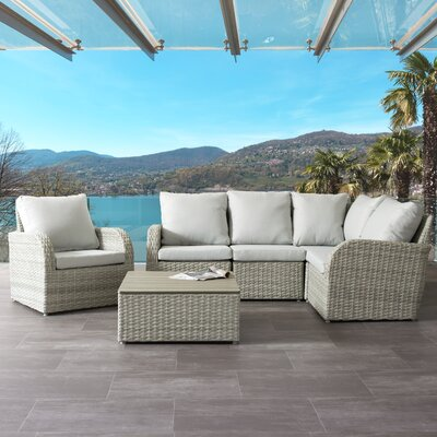 Stunning Rattan Sectional Set Cushion Product Photo