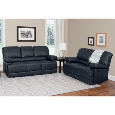 Coyer 2 Piece Living Room Set Upholstery: Black