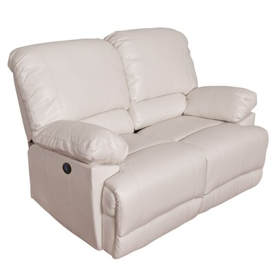 Coyer Reclining Loveseat Upholstery: White