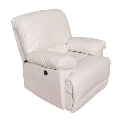 Coyer Power No Motion Recliner Upholstery: White