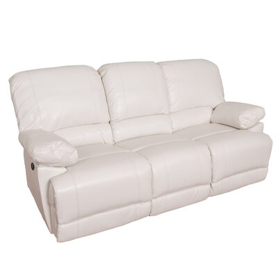 Coyer Reclining Sofa Upholstery: White