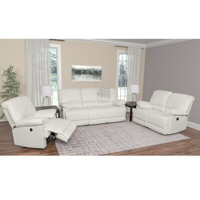 Coyer 3 Piece Living Room Set Upholstery: White