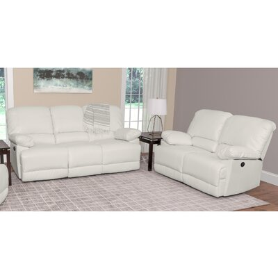 Coyer 2 Piece Living Room Set Upholstery: White